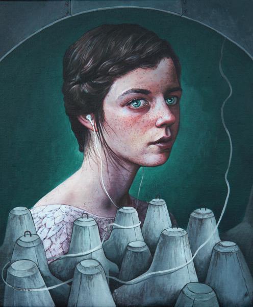 Her world, acrylics on canvas, 25x30 cm,2014
