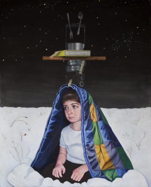 The balance of memory, acrylicw on canvas, 100x80 cm, 2012