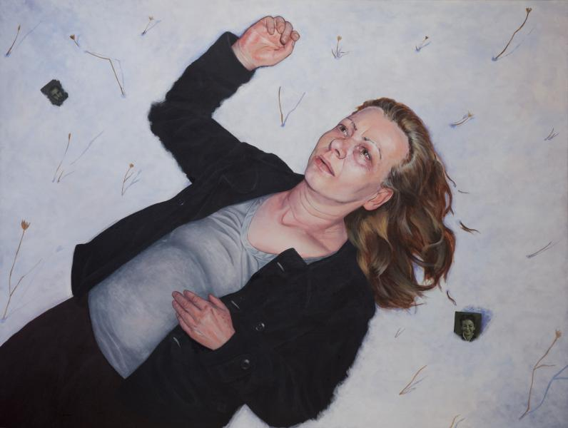 My mother, a guilt and me, acrylics on canvas, 60x80 cm, 2012