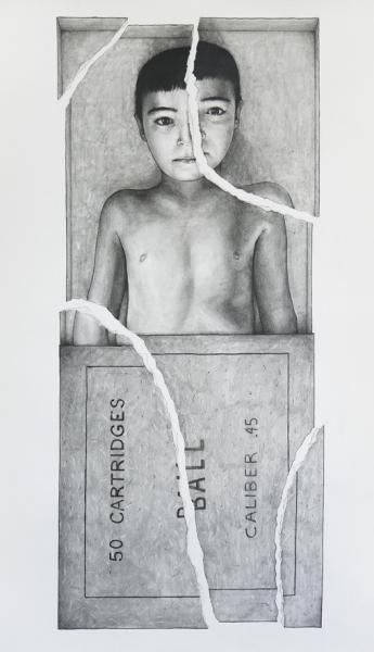 Without you, pencil on paper, 100x60cm, 2013