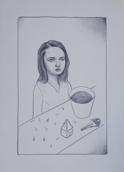 Nostalgist, pencil on paper, 42x29,7cm, 2012